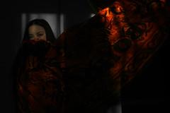 scarf (Clarisse Alago) Tags: portrait white black color girl self dark sad dramatic mysterious isolation