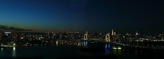 85_The nightscene of Odaiba (fosa.) Tags: nightscene odaiba nightview rainbowbridge fcg fujitv