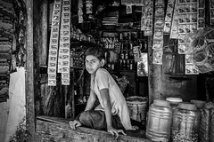 minding the shop (Gerrykerr) Tags: 2016 nepal ngc