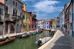Canali di Venezia, Burano, Italy (Mustang Joe) Tags: sunny colourful boat canal burano cruise free nikon publicdomain costa mediterranean eastern d750 2016 venezia veneto italy it
