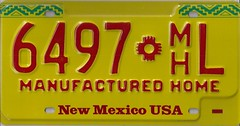6497 m'hL (JohnathanBaker) Tags: new mexico license plate manufactured home