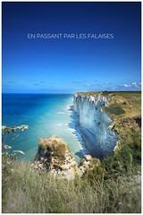 En passant par les falaises (nadgebourdonn) Tags: tretat falaises normandie mer manche soleil randonne pdestre craie calcaire mare