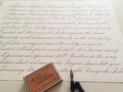 IMG_4466 (xelo garrigs) Tags: caligrafa calligrafia calligraphy pointedpen spencerian penmanship ornamentalscript