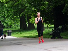London Runner (Waterford_Man) Tags: greenwichpark girl run runner running jog jogger jogging people path park candid