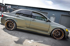 Mitsubishi Evo Wide arch - Midnight sand matte (Sean at Monsterwraps Ltd) Tags: mitsubishi evo evo9 jap jdm bigbhp bhp widearch rocketbunny modified custom timeattach timeattack monsterwraps southampton wrap wrapped wrapping carwrap carwrapping carwrappinguk car cars fastcar worldcars