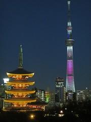 Asakusa by night (Northern_Night_Sky) Tags:  japan tokyo bynight japanbynight tokyobynight    asakusa taito sensojitemple  tokyoskytree nightscape cityscape citybeforegoingtosleep buddhism buddhisttemple  sensoji
