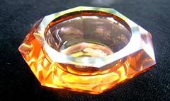 Octagonal Amber Salt (mudder_bbc) Tags: glassware collecting collections saltcellars salts saltdips opensalts standingsalts saltdishes servingdishes condiments amber octagon