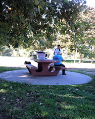 002 Luigi And Gary Begin The Setup (saschmitz_earthlink_net) Tags: 2016 california encino lakebalboa orienteering laoc losangelesorienteeringclub losangeles losangelescounty lakebalboaanthonycbeilensonpark