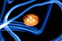 stoale_p3_s5 (samanthatoalephotography) Tags: candle light lightpainting painting blue abstract black