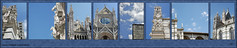 Siena Duomo (john.cote58) Tags: cathedrale sienna italy italia duomo cathedral church europe compilation tuscany bluesky clouds architecture postcard gothic santamaria graphicdesign creative window