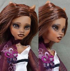 clawdeenC03 (Dirili Art) Tags: custom ooak doll repaint clawdeen mh monsterhigh