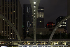 20160918. A different perspective on the Freedom Arches at the Nathan Phillips Square reflecting pool. (Vik Pahwa Photography) Tags: cityhall newcityhall nathanphillipssquare toronto vikpahwa vikpahwaphotography viljorevell reflectingpool freedomarches concrete arches night downtown cityoftoronto architecture