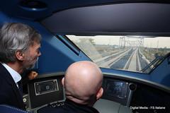 Linea AV-AC Treviglio - Brescia- Graziano Delrio Ministro Trasporti in cabina di guida (Ferrovie dello Stato Italiane) Tags: rfi trenitalia treno av linea altavelocit treviglio brescia viaggio prova trasporti infrastrutture