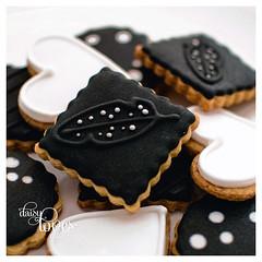 Safari Chic (Daisy Loves Cake) Tags: cookies guineafowl bw blackandwhite