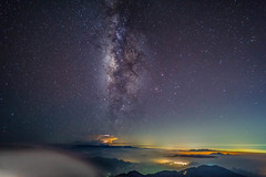 DSC08132 (a99775599) Tags: taiwan nantou sunset moutain cloud      sony a6000 e16 sel16f28 ecu1  milkyway