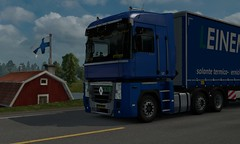 [ETS2 1.25] renault magnum euro truck simulator 2 krone trailer (trucker on the road) Tags: euro truck simulator 2 scandinavia dlc east daf xf veicoli bring transport germany trailer pack skin flag holland truckers heavy bretagne express weeda arctic trucker