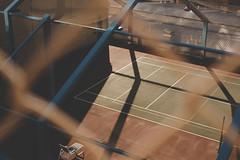 Manhattan Bridge (jeremy.gonzalez) Tags: brooklyn manhattan nyc newyork manhattanbridge tennis sports tenniscourt court paint fence roof rooftop shadows sunset autumn fall