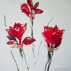 Love of red flowers 2. 2016 (Lilia Orlova-Holmes) Tags: flowers red white amarillies love painting art colour artist artfinder