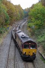 66-105-6F52-Wellington -24-10-2016 (D1021) Tags: shed class66 66105 ews dbs dbschenker 6f52 cartic donnington wellie wellington kingstreet tinbridge telford nikond700 d700