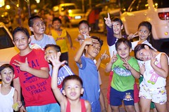 Happy children (John Christian Fjellestad) Tags: street kids night children fun lights evening twilight philippines joy style happiness manila filipino swag