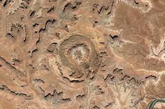 Google Earth imagery of Upheaval Dome... 20141230 (listorama) Tags: usa utah aerial googleearth upheavaldome canyonlandsnp