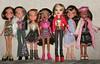 Newish Bratz girls - any IDs welcome :) (skipscales) Tags: black fashion doll dolls dana jade sasha yasmin brunette mga catz bratz cloe nevra