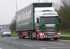 H2153 - PE64 USY (Cammies Transport Photography) Tags: truck drive lorry louise libby eddie sandpiper scania dunfermline esl usy stobart eddiestobart r450 h2153 pe64 pe64usy