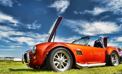 1965 Shelby Cobra AC (Chad Horwedel) Tags: orange classic car illinois convertible replica joliet autobahncountryclub shelyb cobraac 1965shelbycobraac shelbycobraac cvmccarshow