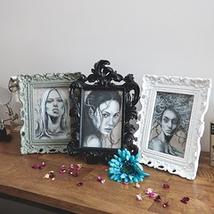 OOAK Postcards (Bella Harris Art & Photography) Tags: art drawing framedart myart charcoaldrawings bellaharris