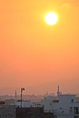 SUR - SUNSET (Punxsutawneyphil) Tags: city sunset sky orange sun skyline evening abend town asia asien sonnenuntergang minaret middleeast atmosphere mosque stadt arabia sur arabian oriental orient oman sonne arabien moschee omani sultanate  morgenland  sultanat moscheen mittlererosten