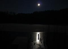 Icy moon (aivas14) Tags: blue light sky moon lake ice night stars