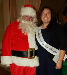 Santa and Shannon Alexander, the 2015 Mary from Dungloe