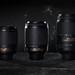 The happy family portrait of current Nikkor kit VR tele zoom lenses