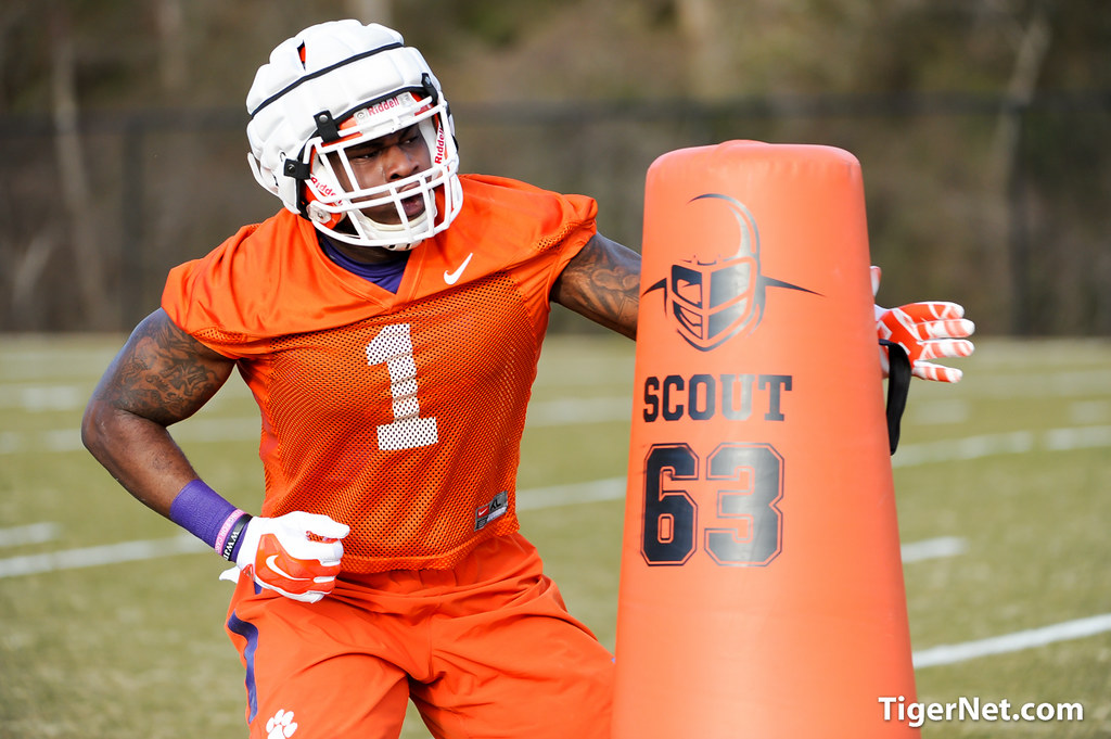 Clemson Photos: Ebenezer  Ogundeko, 2015, Football, practice