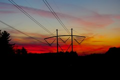Tinted Wires (davidpompel) Tags: sunset powerlines