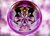 Spirit of the Orchid (maureen bracewell) Tags: pink flowers abstract orchid ball digitalart sphere mirrored fractal maureenbracewell saariysqualitypictures