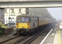 "73128. ""O.V.S BULLEID C.B.E"". (wagn1) Tags: kent locomotives networkrail gbrailfreight class73 gbrf westenhanger electrodiesellocomotives europorte2 eurotunnelgroup"