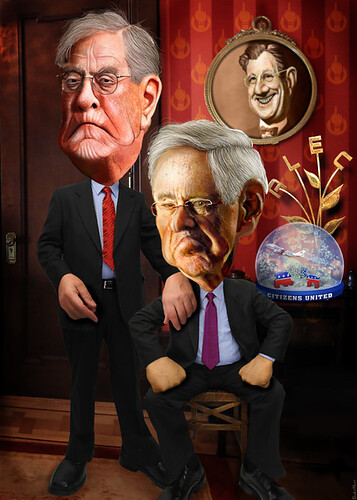 David and Charles Koch - Caricatures, From FlickrPhotos
