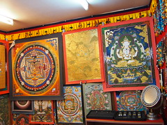 Mandalas (different religious wall decorations)!