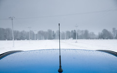 Contact (Villem Voormansik) Tags: blue winter white snow antenna