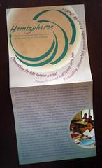 HemispheresBrochureSmall-OutsideFront (Heather K. Teague) Tags: brochures hemispheres