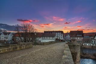 melsungen city sunset