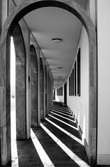 Karlsruhe 22 - Licht & Schatten (grasso.gino) Tags: light shadow bw germany deutschland licht blackwhite pattern arch sw archway karlsruhe schatten muster schlossplatz bogen badenwürttemberg bogengang schwarzweis castlesquare
