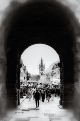 Porta Nigra - Trier (vale0065) Tags: bw black heritage monochrome port germany ancient gate roman large unesco trier portanigra duitsland