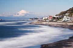| The vew of Mount Fuji from InamuragasakiKamakura (Iyhon Chiu) Tags: sea bw japan landscape coast kamakura mountfuji d750  enoshima     mtfuji fujisawa   2014      nd110  nd nikond750