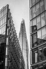The One That Stands Out (Neil-rm) Tags: city bw white black london skyscraper photography tall shard hdr bulidings