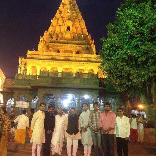 With Friends at Shri Mahakaleshwar Mandir,  Ujjain,  Madhya Pradesh.