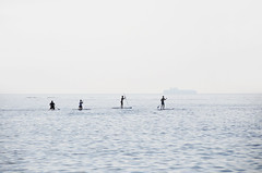Four stand-up paddling (SUP'ing), Piran / Slovenia (anji) Tags: slovenia slovenija piran pirano adriaticsea istra istria exyu exyugoslavia southeasteurope