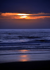 Still Awake? (~~J) Tags: sunset coast beach ocean pacificocean blue orange evening dusk oregon cannonbeachor night sky nightsky paintedsky reflections peace