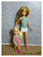 Chelsea and Stacie (May Belle Dolls) Tags: maybelledolls barbiesisterchelsea barbiesisterstacie chelseadoll staciedoll stacie barbiesisterstraintaffychelsea barbiesisterspupwalkstacie